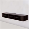 "South Shore City Life 66"" Wide Wall Mounted Media Console, Chocolate"