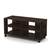 South Shore Jambory Storage unit on casters, Chocolate