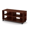 South Shore Jambory Storage unit on casters, Royal Cherry