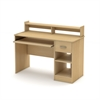 South Shore Axess Desk with Keyboard Tray, Natural Maple