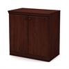 South Shore Morgan Small 2-Door Storage Cabinet, Royal Cherry