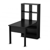 South Shore Annexe Work Table and Storage Unit Combo, Pure Black