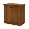 South Shore Morgan Small 2-Door Storage Cabinet, Morgan Cherry