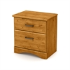 South Shore Cabana 2-Drawer Nightstand, Country Pine