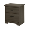 South Shore Versa 2-Drawer Nightstand, Gray Maple