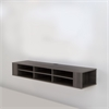 "South Shore City Life 66"" Wide Wall Mounted Media Console, Gray Maple"