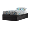 South Shore Fynn Twin Mates Bed (39'') with 3 Drawers, Gray Oak