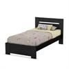 South Shore Flexible Twin Bed Set (39''), Black Oak