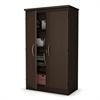 South Shore Morgan 2-Door Storage Cabinet, Chocolate