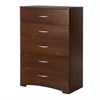 South Shore Step One 5-Drawer Chest, Sumptuous Cherry