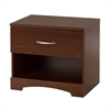 South Shore Step One 1-Drawer Nightstand, Sumptuous Cherry