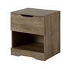 South Shore Holland 1-Drawer Nightstand, Weathered Oak