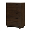 South Shore Fynn 5-Drawer Chest, Brown Oak