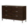 South Shore Flexible 6-Drawer Double Dresser, Brown Oak