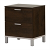 South Shore Flexible 2-Drawer Nightstand, Brown Oak