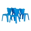 South Shore Crea Blue Kids Plastic Stacking Chairs, 4-Pack