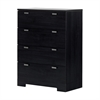 South Shore Reevo 4-Drawer Chest, Black Onyx
