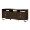 South Shore Uber TV Stand for TVs up 60'', Brown Oak