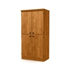 South Shore Morgan 4-Door Storage Cabinet, Country Pine