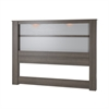 "South Shore Gloria King Headboard (78"") with Lights, Gray Maple"