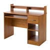South Shore Axess Desk with Keyboard Tray, Country Pine