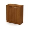South Shore Axess 2-Door Storage Cabinet, Morgan Cherry