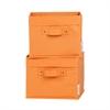 South Shore Storit Orange Canvas Baskets, 2-Pack