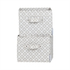 South Shore Storit Beige, Diamond Print Canvas Baskets with Pattern, 2-Pack