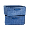 South Shore Storit Chambray Nightstand Baskets with Chambray Pattern, 2-Pack