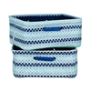 South Shore Storit Blue Scales Nightstand Baskets with Scales Pattern, 2-Pack