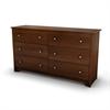 South Shore Vito 6-Drawer Double Dresser, Sumptuous Cherry