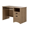 South Shore Gascony Computer Desk with Keyboard Tray, Rustic Oak