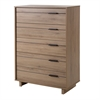South Shore Fynn 5-Drawer Chest, Rustic Oak