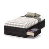 South Shore Little Smileys Twin Mates Bed (39'') with 3 Drawers, Gray Oak