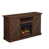 "Cottonwood TV Stand for TVs up to 55"" with Electric Fireplace, Saw Cut Espresso"