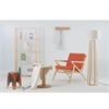 Vibe Natural Lounge Chair Orange W/ Ash Wood, set of 2