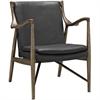 Jason Lounge Chair Dark Walnut w/ Leather