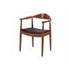 Wood Dining Arm Chair Dark Walnut, set of 2