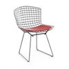 Bertoria Wire Dining Chair Red Seat, set of 4
