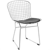 Bertoria Wire Dining Chair Black Seat, set of 4