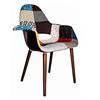 Oriental Chair Plastic Fabric Multicolor