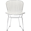 Bertoria Wire Dining Chair White Seat, set of 4