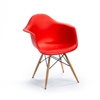 Classic Dining Arm Chair Red, set of 2