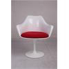 Tulip Arm Dining Chair Fiberglass Red