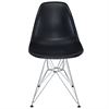 Classic Dining Chair Black W/ Wire Legs, set of 4
