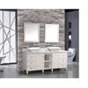 "MTD Vanities Belarus 72"" Double Sink Bathroom Vanity Set, White"