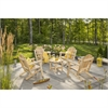 White Cedar 4 Chairs and Coffee Table Set