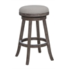 "29"" Fenton Barstool, Driftwood Gray Wire-brush and Ivory"