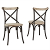 Walker Edison Reclaimed Dining Chairs, Set of 2
