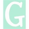 White Capital Letter g